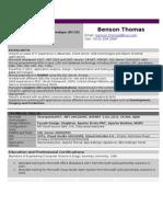 Benson Thomas Resume 04102009 N