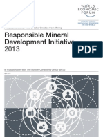 World Economic Forum, Responsible Mineral Development Initiative 2013