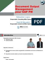 SAP PM Génération et distribution de dossiers de maintenance SAP PM