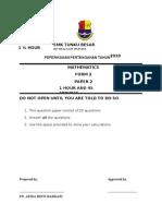 Form 2 Maths Paper 2