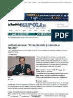 Gianni Lettieri sul bilancio comunale, accusa sul rendiconto
