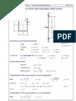 Ec9 Ex92 Beam Column RHS