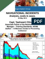 Marine Collision statistics May 2013