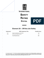 Element 20 Off-The-Job Safety - Questions Marked