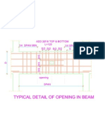 Details of Opening in Beam