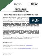 Cs3 Assoteatro-Teatro Duse Bologna, 13 Maggio