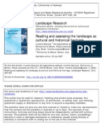 Reading and Assessing the Landscape as Cultural and Historical Heritage