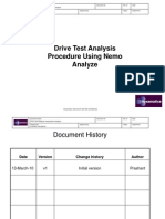 Drive Test Analysis Procedure