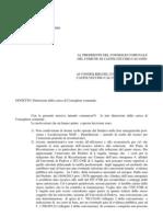 CASTELVECCHIO CALVISIO. DIMISSIONI CONSIGLIERE MICALONE
