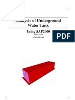 Analysis of Underground Using SAP2000