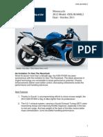 Heavy Duty Motorcycle X-Ring Gold Drive Chain 525-110L Suzuki GSX-R750 SRAD 98-05