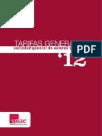 Tarifas Autores y Editores Sgae