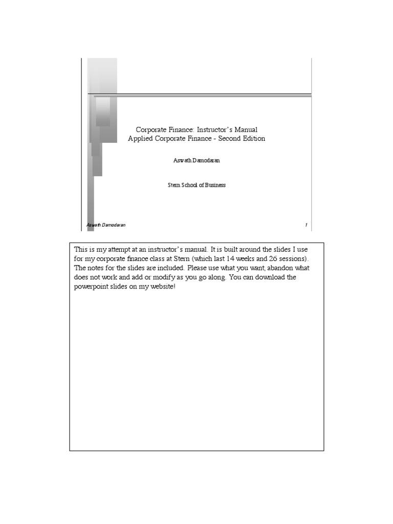 Instr Manual Bonds Finance Board Of Directors