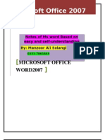 Microsoft Word Notes  By