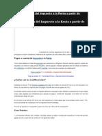 Pagos a Cuenta Del Impuesto a La Renta a Partir de Agosto 2012