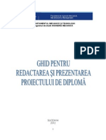 Ghid Proiect de Diploma LICENTA