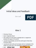Initial Feedback and Idea Sheet