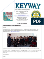 The Keyway - 15 May 2013 Edition - Weekly newsletter for the Rotary Club of Queanbeyan
