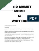 29206157 David Mamet Memo to Writers