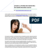 Caida Del Cabello Remedios Caseros