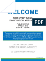 DC Water First Street Tunnel Project EA Meeting_Boards 2013 04 24