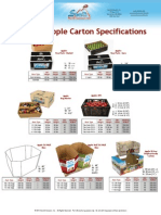Cartons Apples Specifications