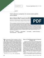 Vault Reduction Cranioplasty for Extreme Hydrocephalic Macrocephaly