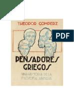 Theodor Gomperz - Pensadores Griegos Libro 1