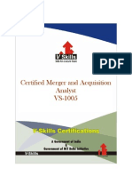 Certified Merger and Acquisition Analyst