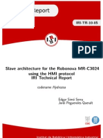 1186 Slave Architecture for the Robonova MR C3024 Using the HMI Protocol IRI Technical Report