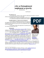 Gravity as Entanglement, and Entanglement as Gravity (Introduction)