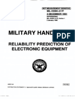 Reliability prediction of electronic equipment