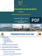 Update of Developments in Uganda's Oil and Gas Sector