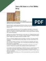 Prima Tiparitura Din Lume Nu e Biblia Lui Gutenberg