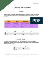FORMACIÓN DE ACORDES I