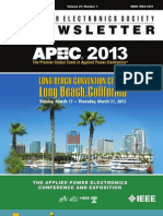 IEEE PELS Newsletter 2013 1st Quarter