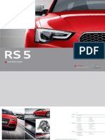 Audi RS 5 Catalogue (Germany, 2013)