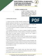 Edital Nº 0202013 Auxílio Alimentação