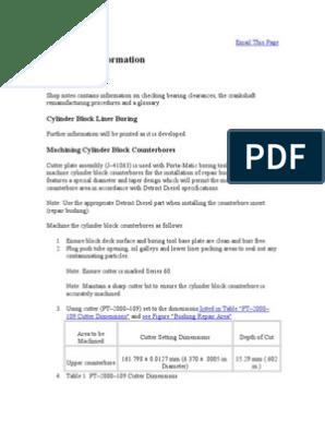 Serie 60 Informacion Adicional | Piston | Cylinder (Engine)