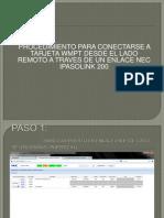 Conexion a WMPT a Traves de Enlace Ipasolink 200