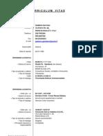 Curriculum Vitae Gaetano Gambera