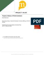 Toward a History of World Literature