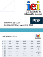Horarios I.E.I.