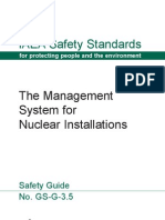 The Management System for Nuclear Instalations