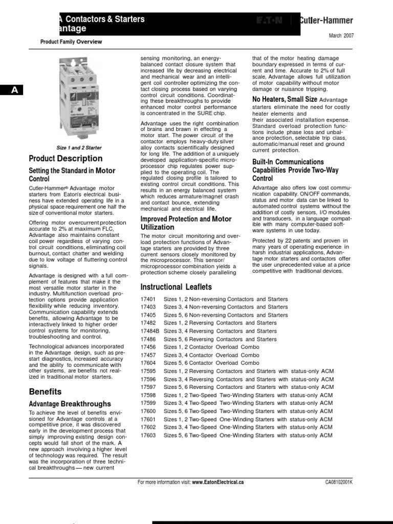 Cutler Hammer Advantage Starter Wiring Diagram - Somurich.com on