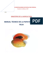 Manual Tecnico de La Papaya Maradol