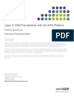 SVC Tech Implementation Guide Layer-2 TDM Pseudowires E4G Platform