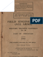 Field Engineering (All Arms) - Part III - Obstacles - 1943