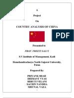 country analysis of china