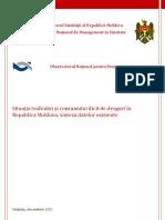 Situaţia traficului şi consumului ilicit de droguri în Republica Molodva, sinteza datelor existente